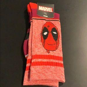 Deadpool socks sz 10-13